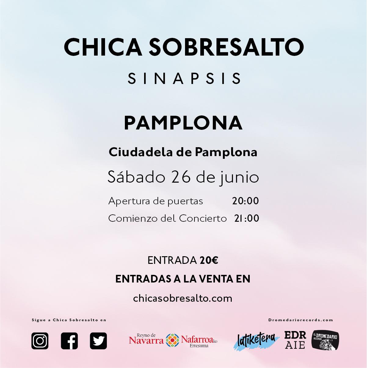 Chica Sobresalto actuará en Pamplona 26 de junio
